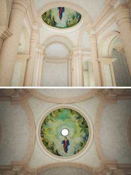 Restauración de basílica inmaculada concepción