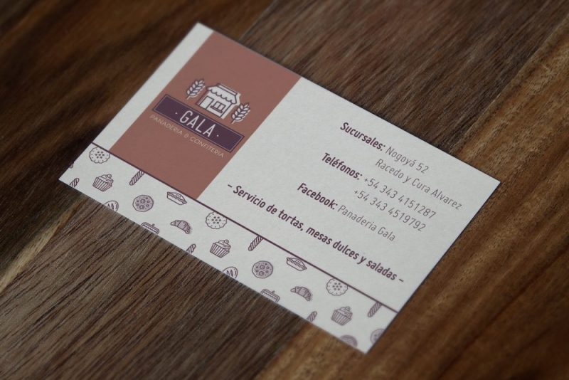 gala tarjetas personales dorso diseño gráfico