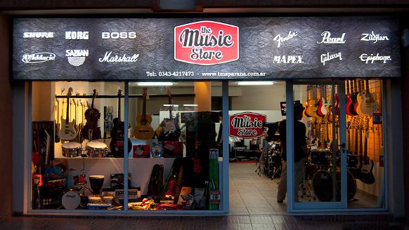The music store cartel Frente diseño gráfico