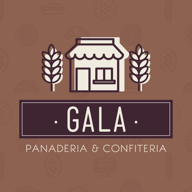 Gala panadería confitería logo diseño gráfico