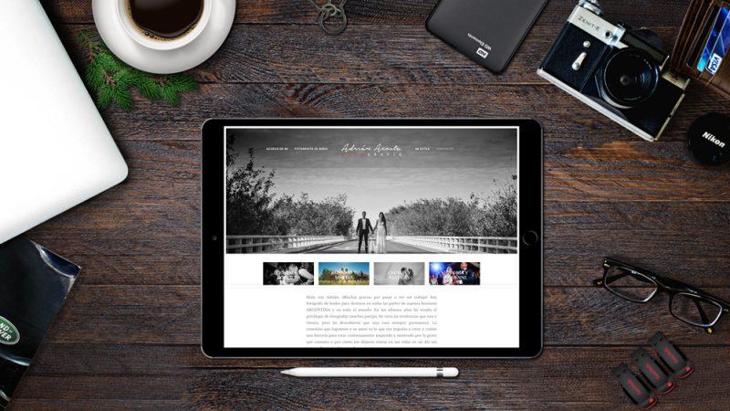 Adrian Acosta fotografía web tablet diseño web