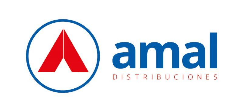 Amal distribuciones distribuidora logo diseño gráfico