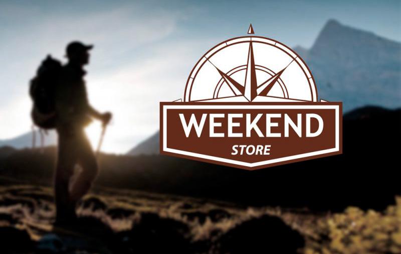 Weekend Store logo diseño gráfico Minds Estudio