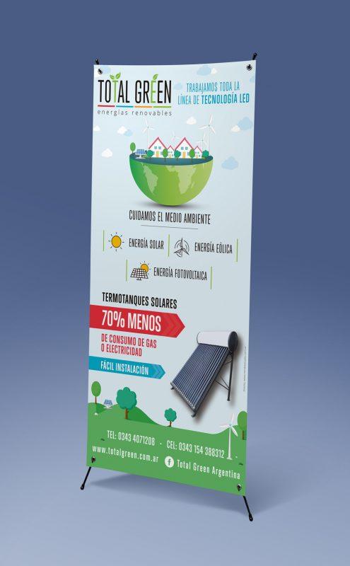 Total Green banner de pie diseño gráfico