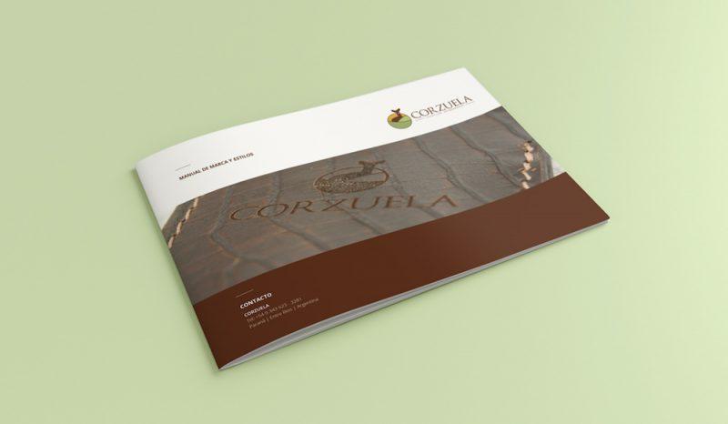 Corzuela Cuchillos Entrerrianos manual de marca diseño gráfico