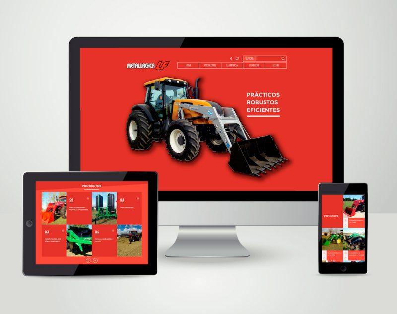 Metalurgica Lf diseño sitio pagina web