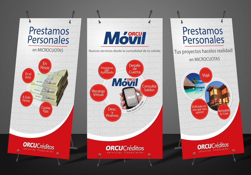 orcu créditos servicios financieros banners diseño gráfico