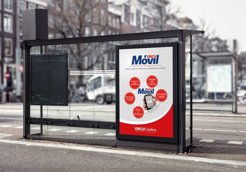 orcu créditos servicios financieros afiche diseño gráfico