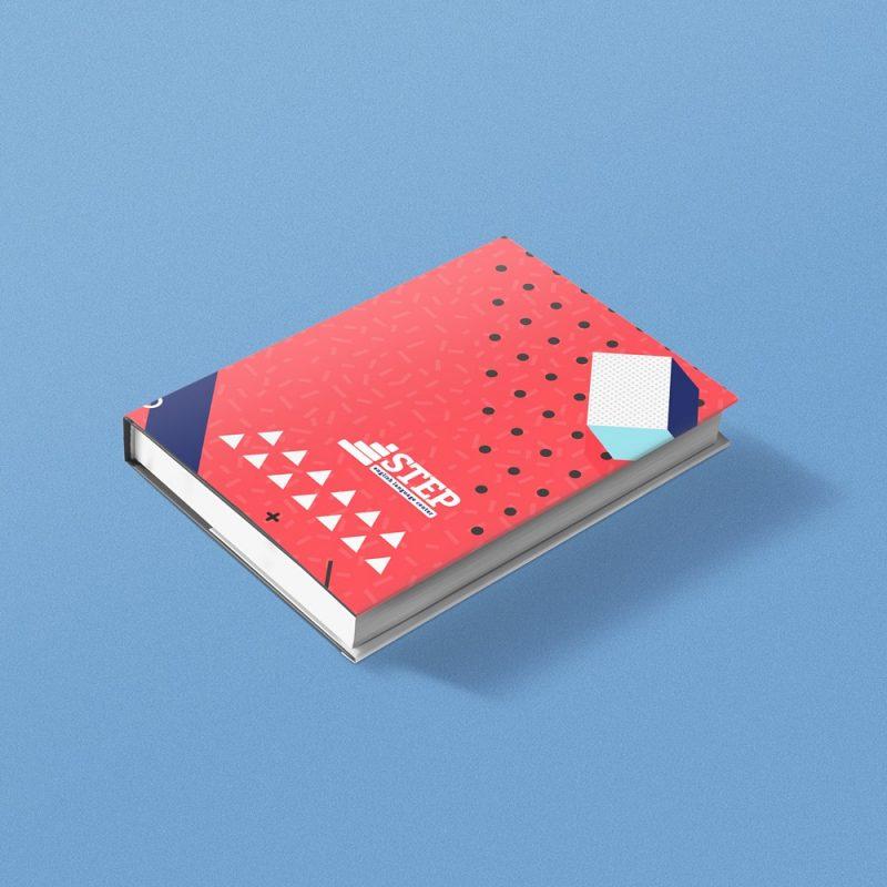 STEP instituto de ingles libro de actividades diseño gráfico