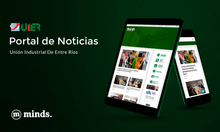 Union Industrial de Entre Ríos portal noticias web Minds Estudio 2017