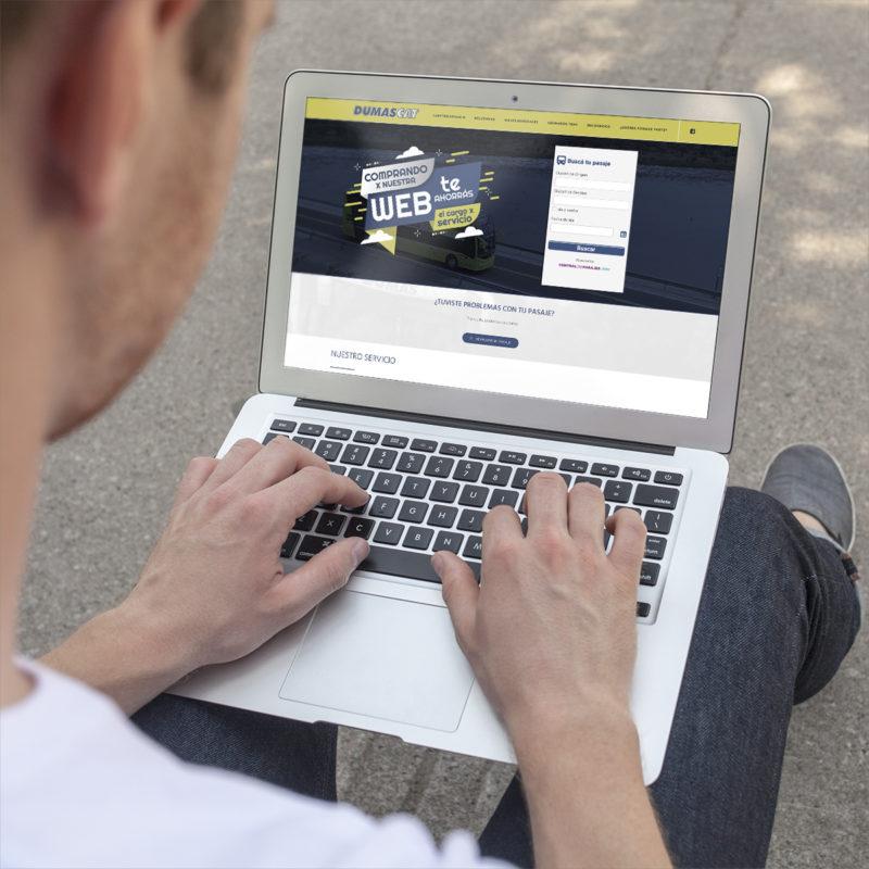 nuevo sitio web celular dumas cat empresa de colectivos