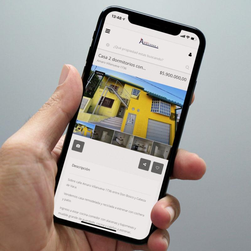 Inmobiliaria José María Armandola programación web tablet celular
