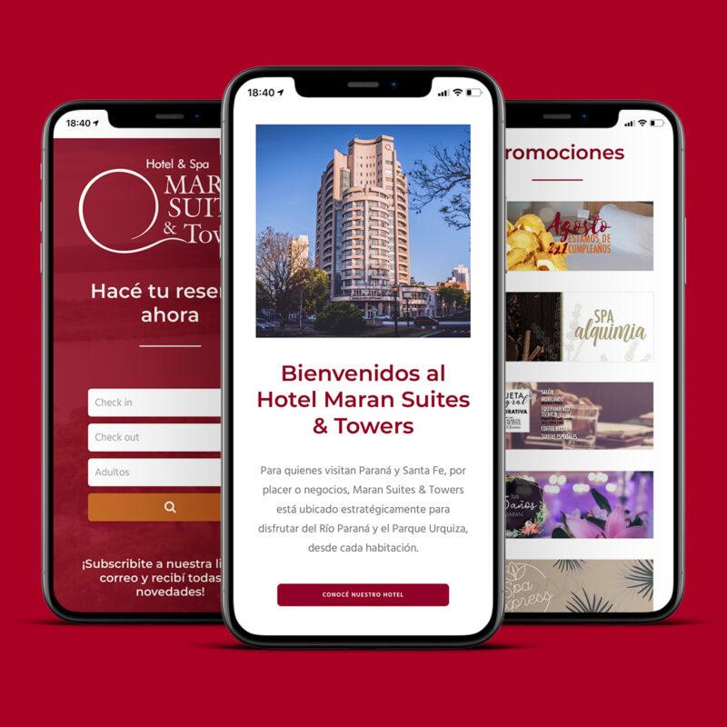 Hotel Maran Suites & Towers diseño web Minds Estudio Versión móvil