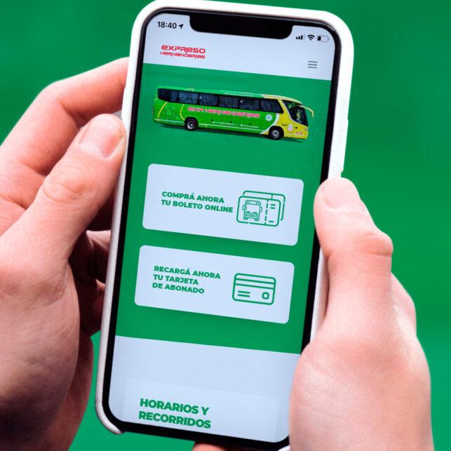 expreso hernandarias nueva web versión móvil