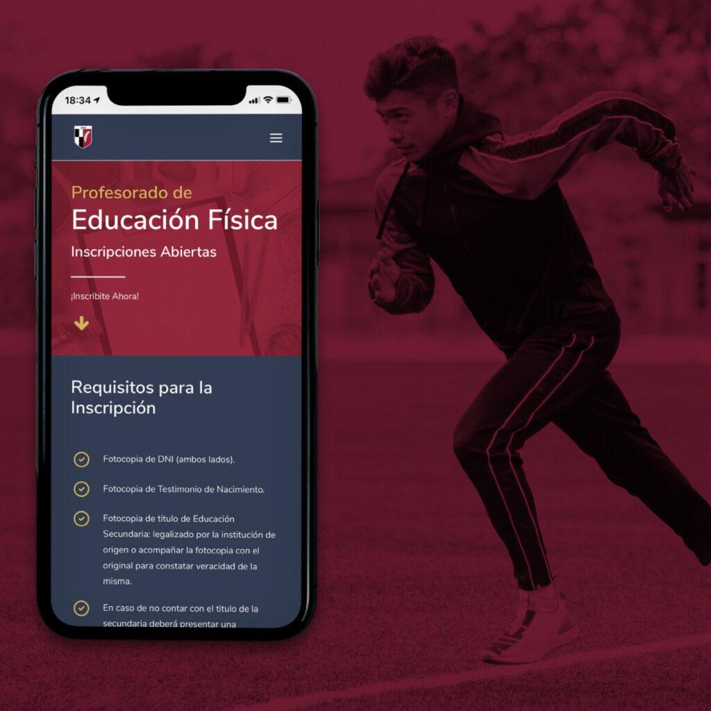 Instituto superior del CAE diseño página web celular