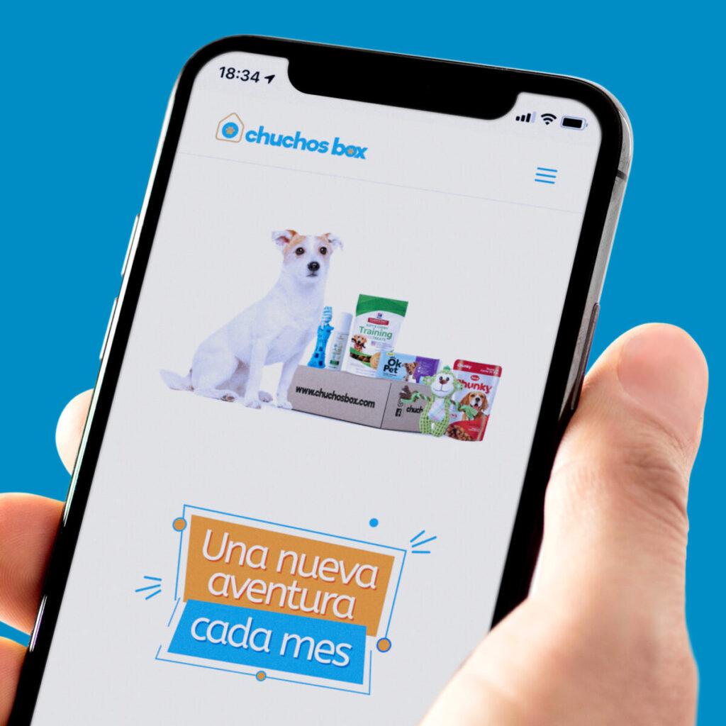 Chuchos Box diseño de página web con sistema de compras online versión móvil