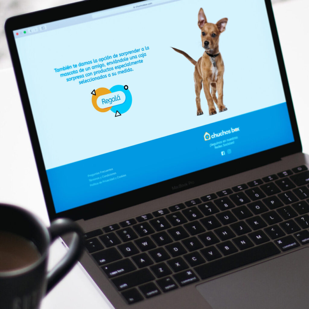 Chuchos Box diseño de página web con sistema de compras online versión pc