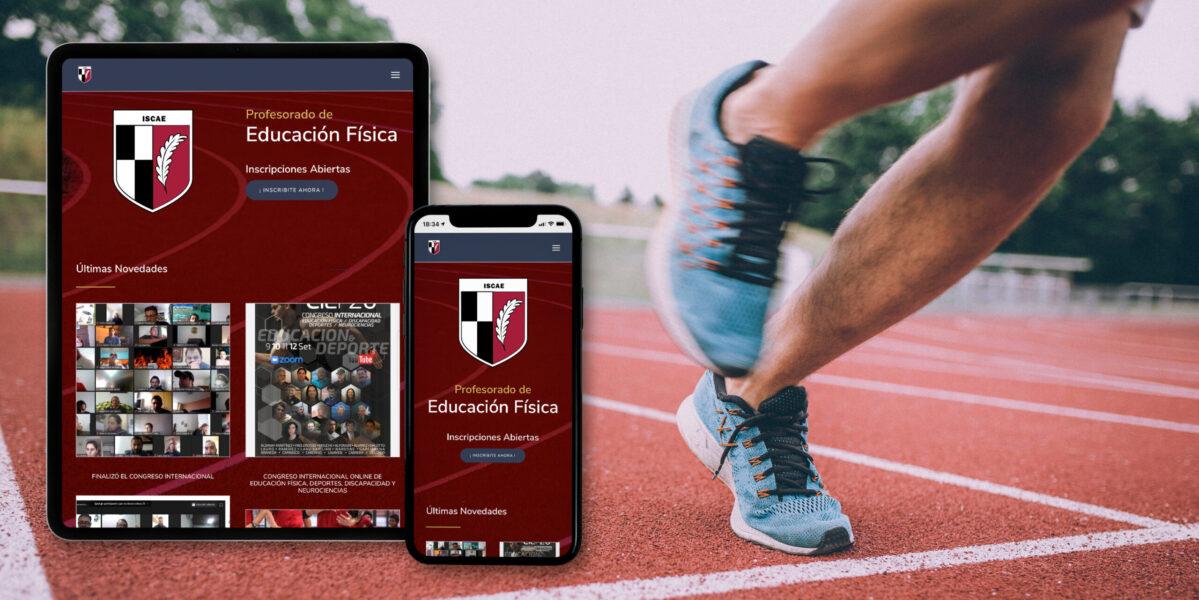 Instituto superior del CAE diseño página web responsive tablet y celular