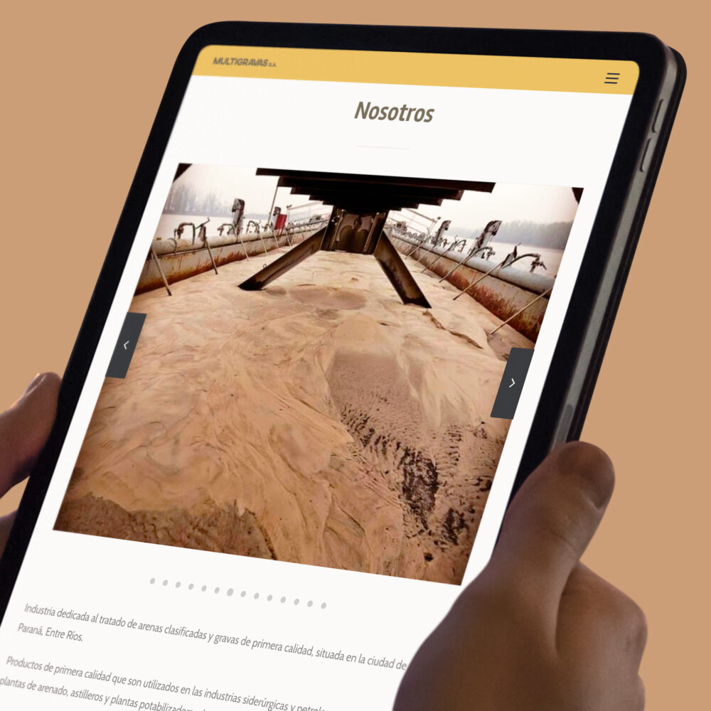 Multigravas página web institucional diseño Minds Estudio