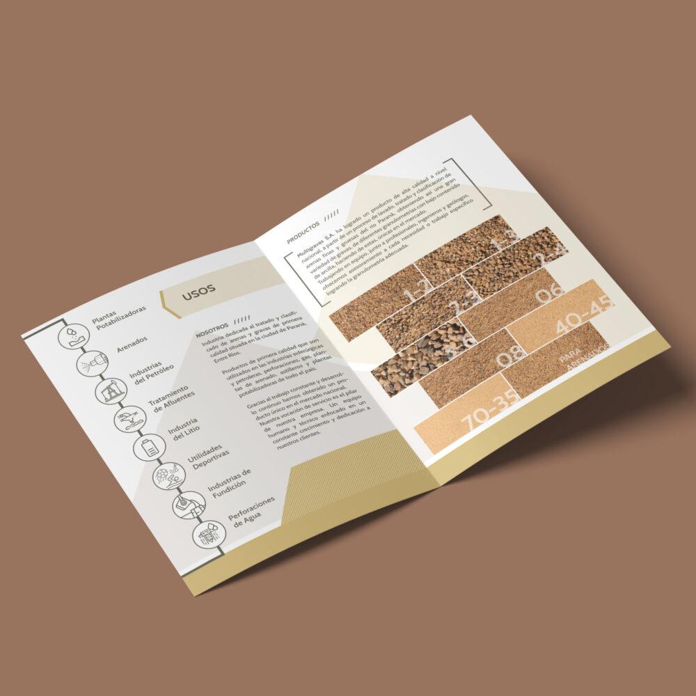 Multigravas diseño de folleto