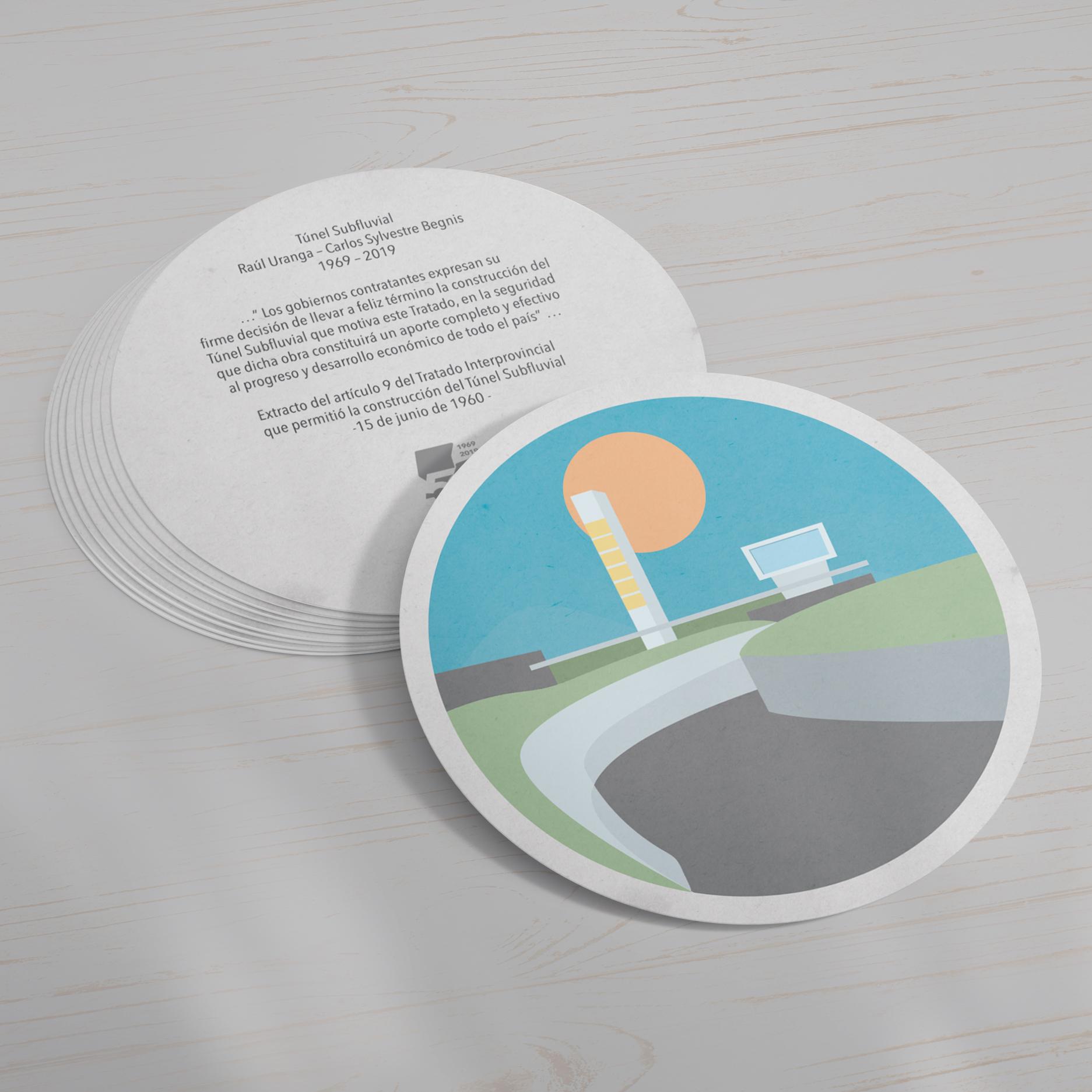 Túnel Subfluavial diseño postales 50 aniversario