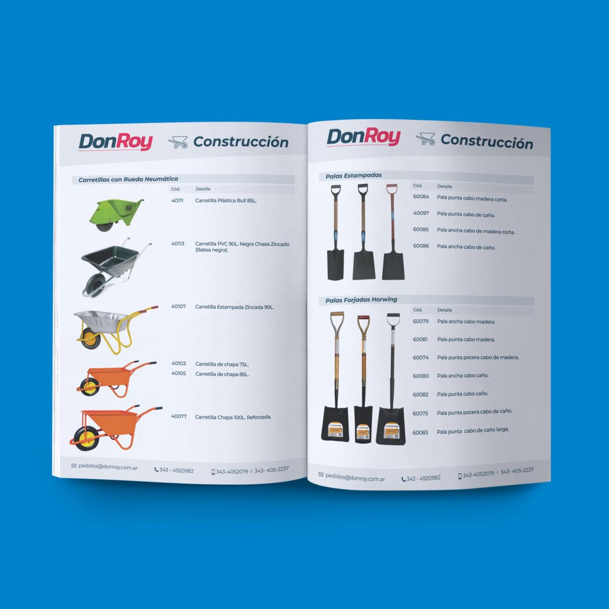 DonRoy diseño de catálogo